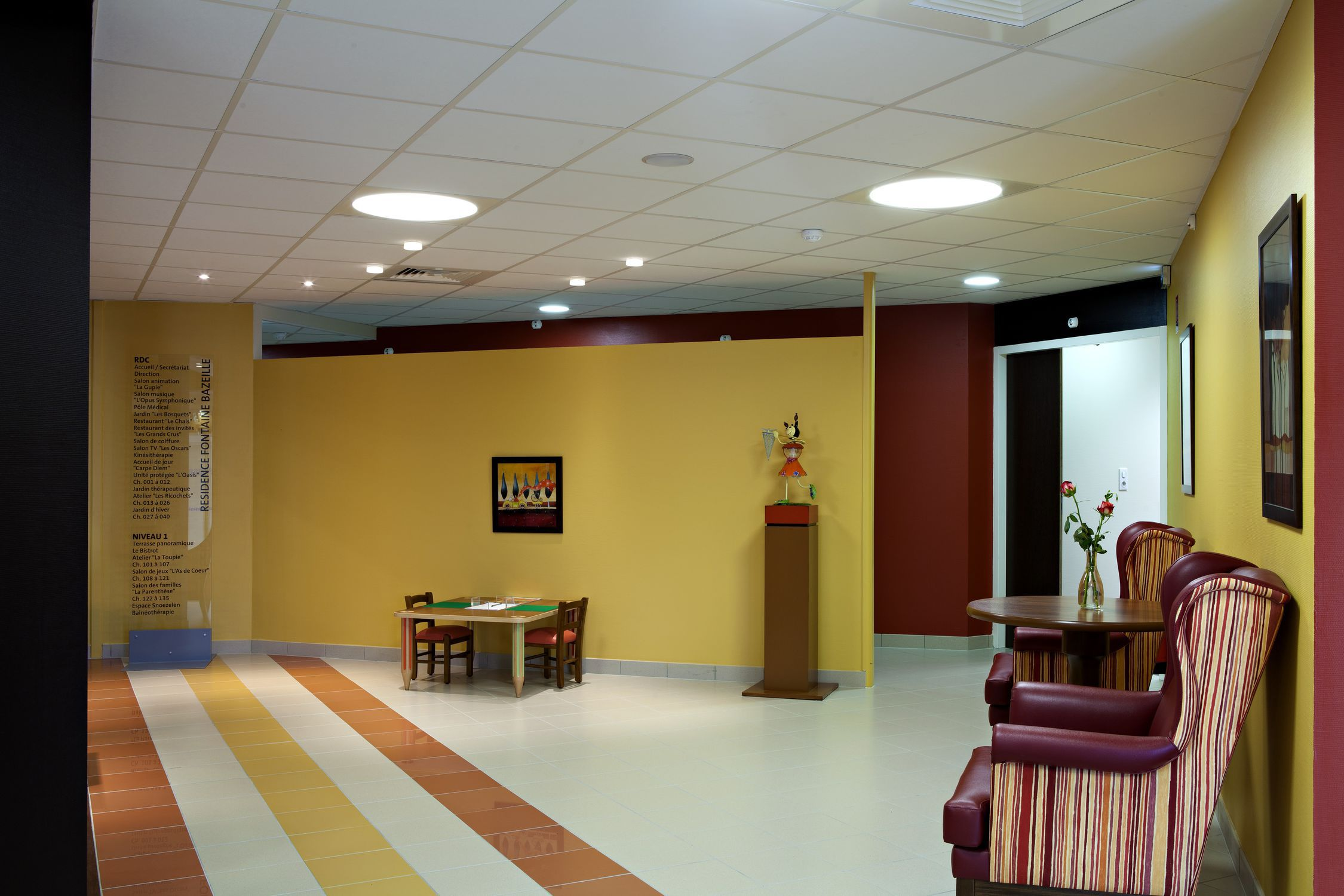Acoustic suspended ceiling / rockwool / panel